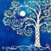 peinture sur toile-arbre de vie Cosmos-PA10