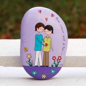 galet peint amoureux-saint valentin-amoureux4